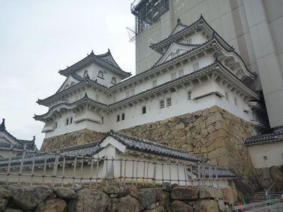工事中の姫路城