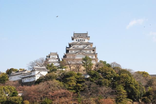 平成の大改修前の姫路城