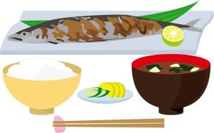秋の味覚 秋刀魚定食
