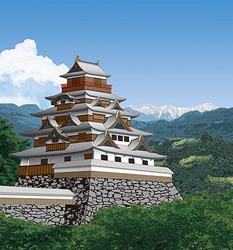 沼田城の想像図