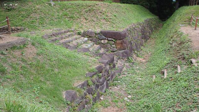 沼田城の石垣が発見された
